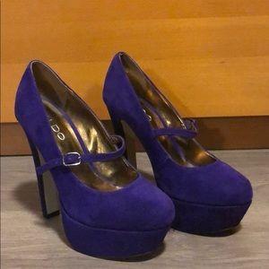 Aldo Purple Suede Heels